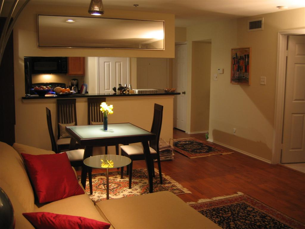 Kitchen And Living Room<br> : FT2 - Living Room open to Kitchen - Condo For Rent in Alexandria, VA: $1,475 / 1 br / 1 bath #1396